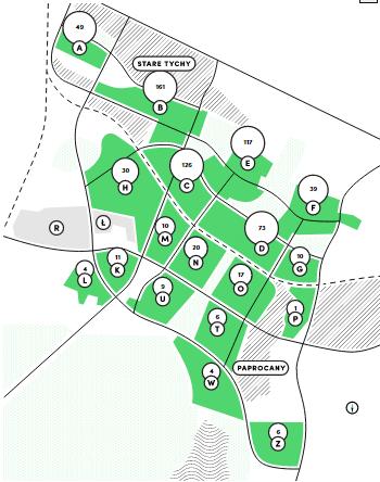 Mapa osiedli Tychy